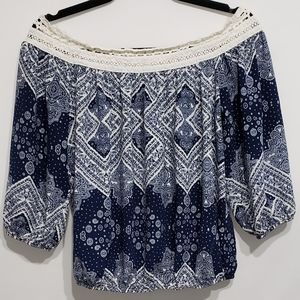 A. Byer Blue Blouse Size Small